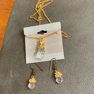 Pineapple Necklace and Earrings